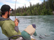 Robert Penington 2006 Fish-On in front of the Kenai Skybox Lodge
